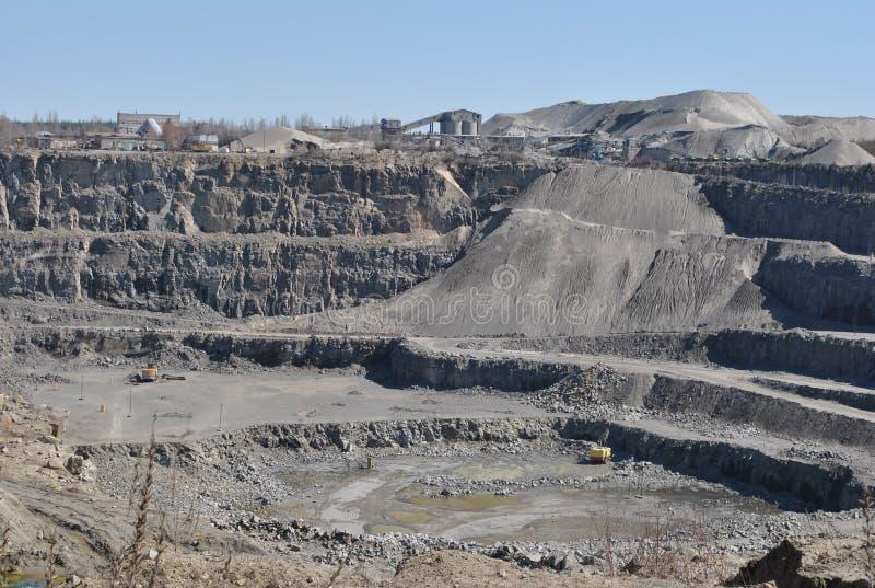 grande carrière de granit près du Malyn, Ukraine photographie stock