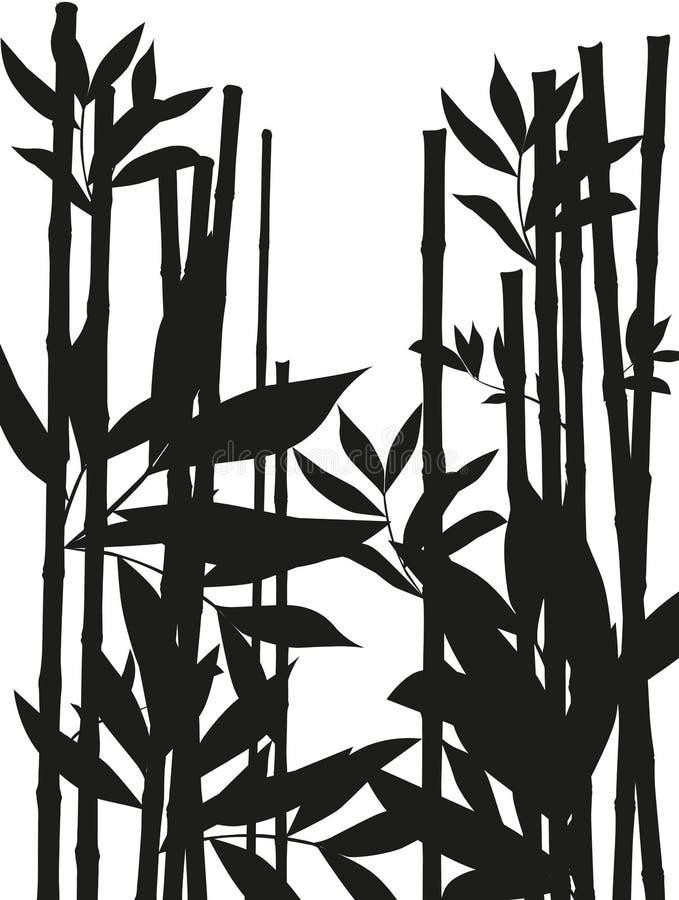 Grande carta da parati della foresta di bambù alla decorazione il vostro affare illustrazione di stock