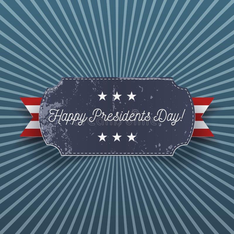 Grande carte de voeux réaliste heureuse des Présidents Day illustration libre de droits