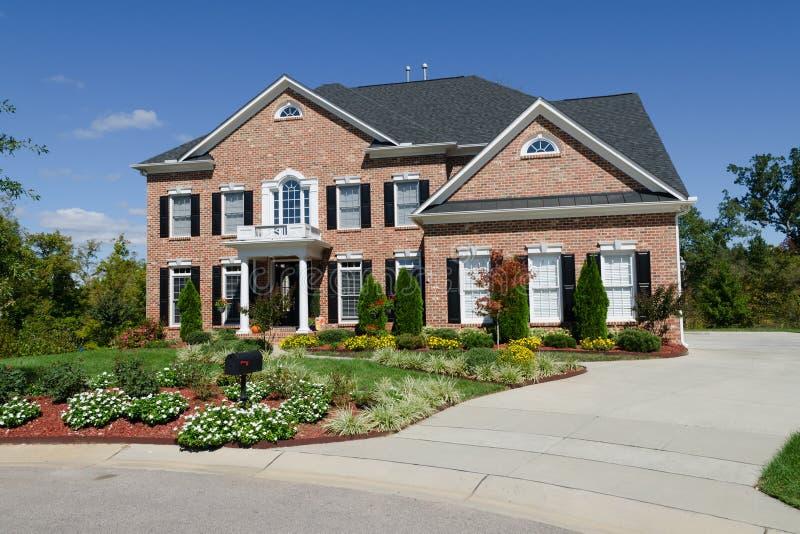 Grande casa americana imagem de stock royalty free