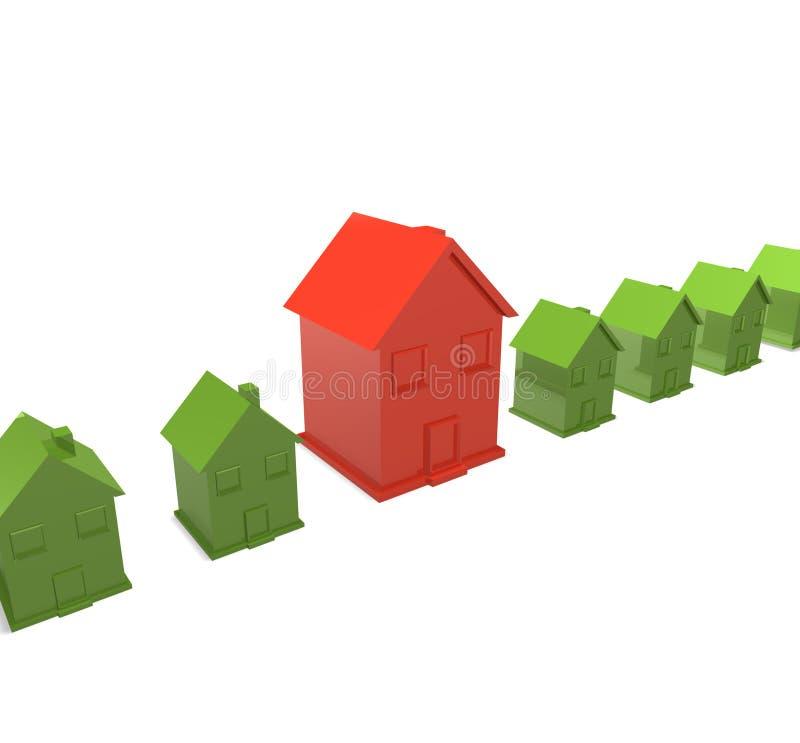 Grande casa con le piccole case illustrazione vettoriale