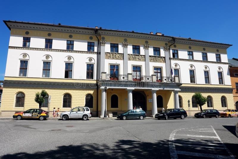 Grande casa provinciale nella città di Levoca immagini stock