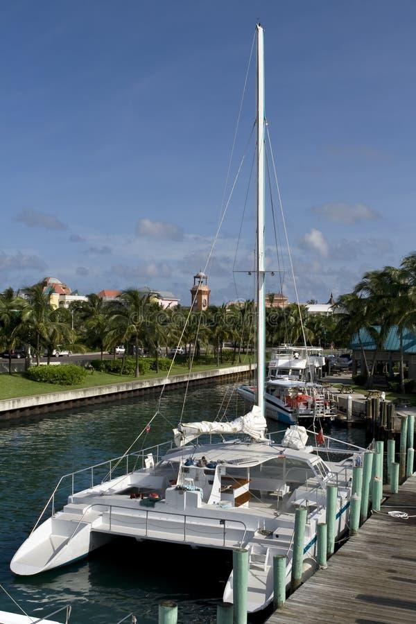 Grande catamarano fotografia stock libera da diritti