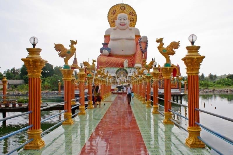 Grande centro di Buddha Plai Laem, Samui, Tailandia fotografie stock