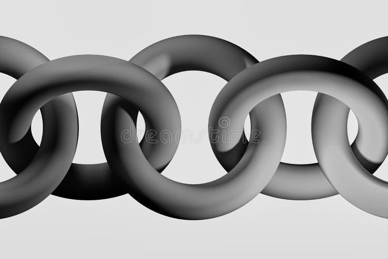 Grande chaîne noire grise sur le fond blanc illustration de vecteur