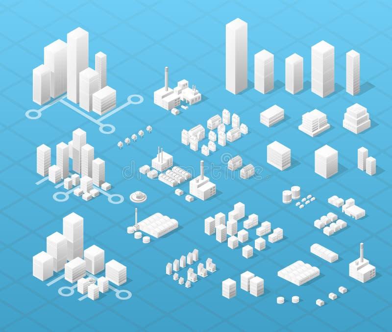 Grande cidade moderna ilustração royalty free