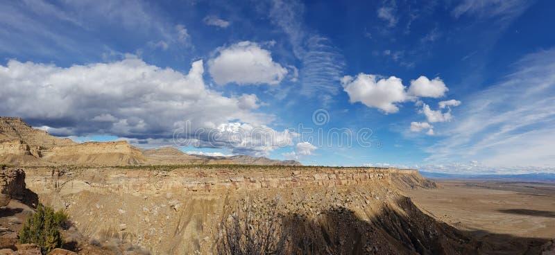Grande cielo, scogliere del libro, Utah fotografia stock