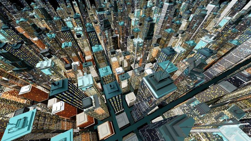 Grande città illustrazione di stock