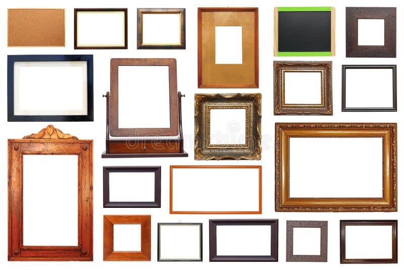 Grande coleção dos quadros fotografia de stock royalty free