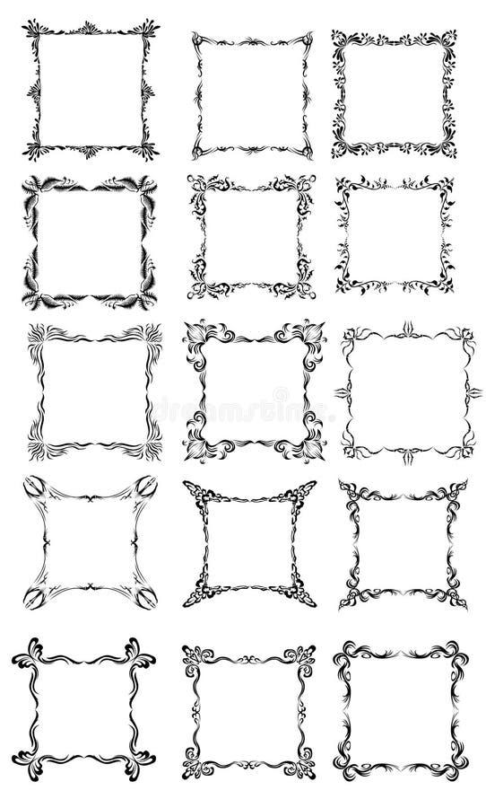 Grande collection de différents types des trames. illustration stock