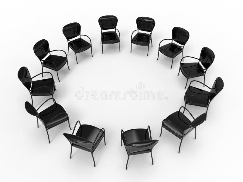 Grande conceito do estudo do grupo ilustração do vetor