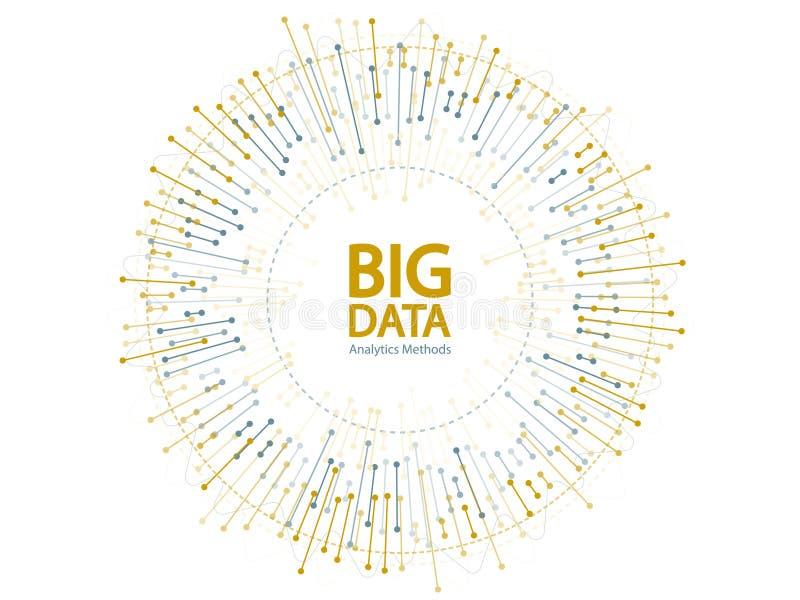 Grande conception de vecteur de concept de visualisation de données illustration stock