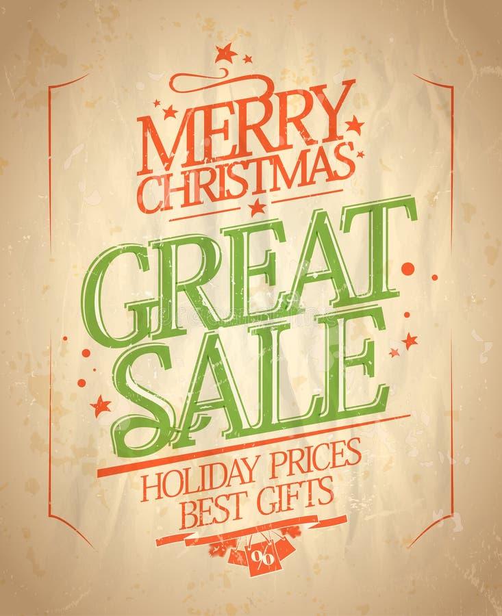Grande conception de vente de Noël illustration stock