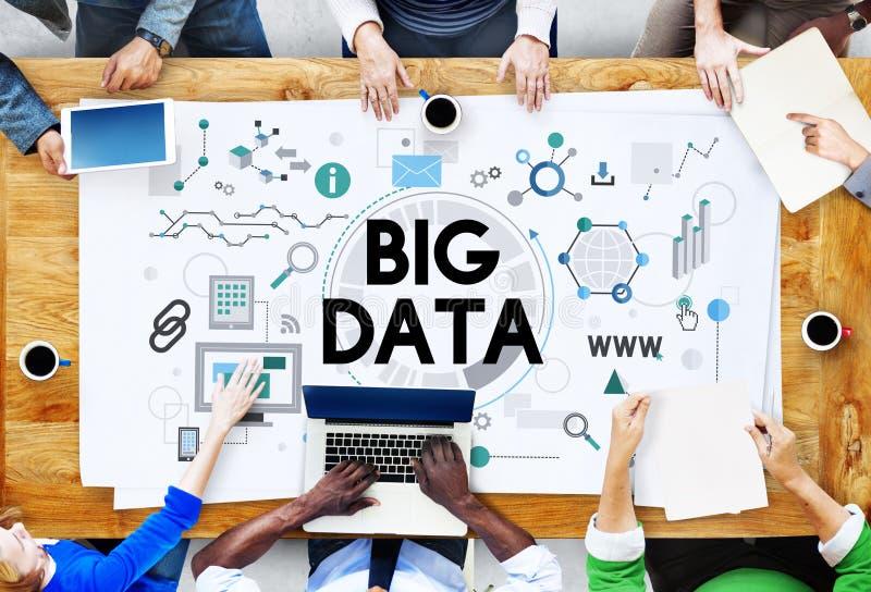 Grande concetto del sistema di memorizzazione del server di tecnologia di dati immagine stock libera da diritti