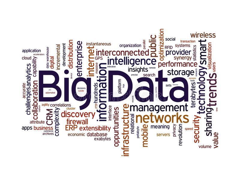 Grande nuvola di parola di dati