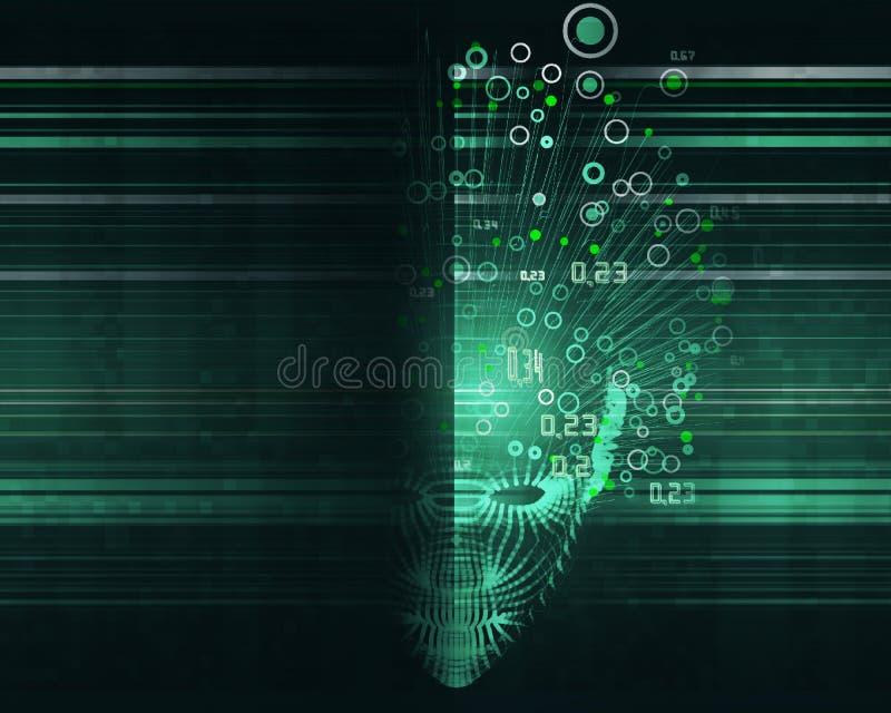 Grande concetto di dati Fondo astratto di intelligenza artificiale Progettazione estetica di apprendimento automatico illustrazione vettoriale