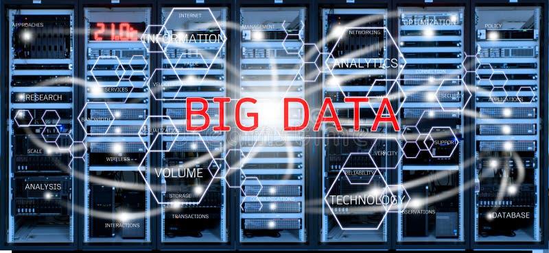 Grande concetto di dati sulla stanza vaga del centro dati fotografia stock libera da diritti