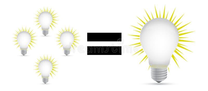 Grande concetto di idea illustrazione vettoriale