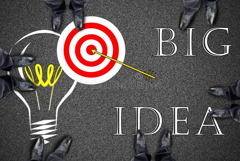 Grande concetto di idea su una strada illustrazione di stock