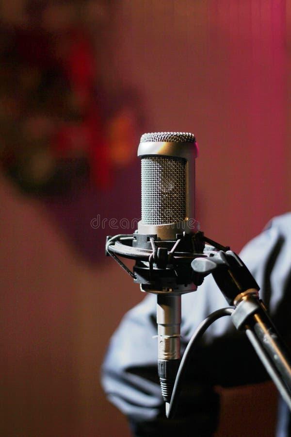 Grande condensatore del diaframma del microfono fotografia stock libera da diritti