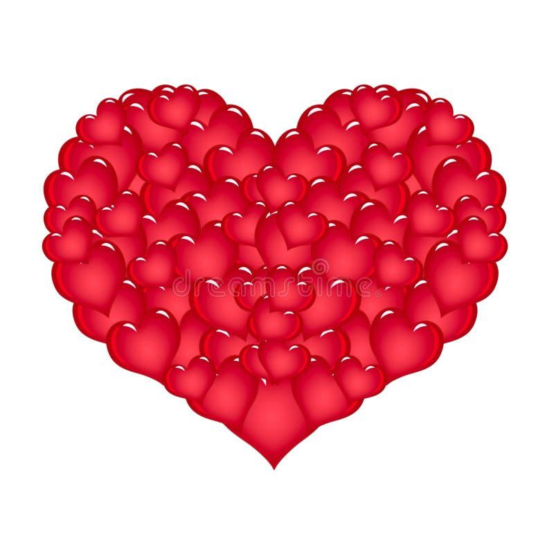 Grande coração vermelho ilustração royalty free