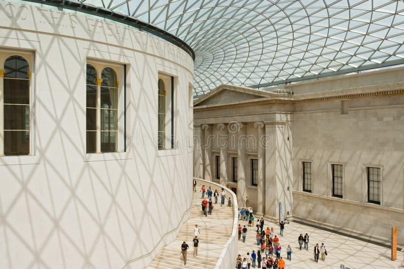 Grande corte de British Museum foto de stock