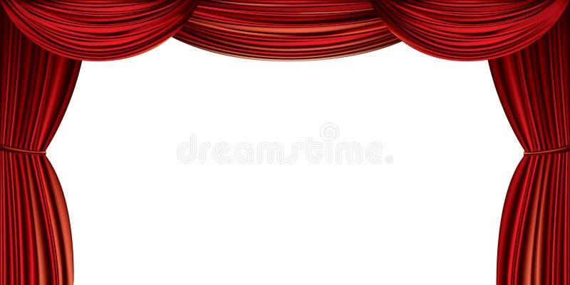 Grande cortina vermelha ilustração do vetor