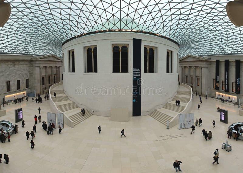 Grande cour de British Museum images stock