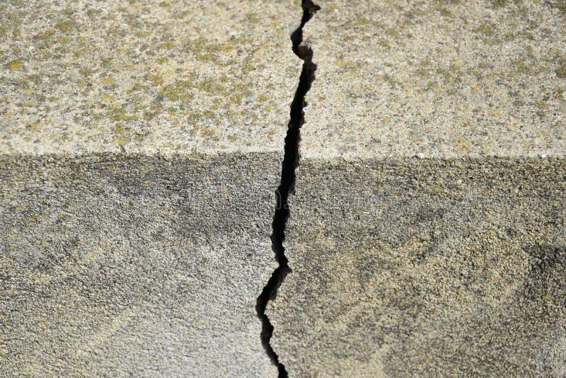 Grande crepa sulla vecchia fine del muro di cemento su fotografie stock