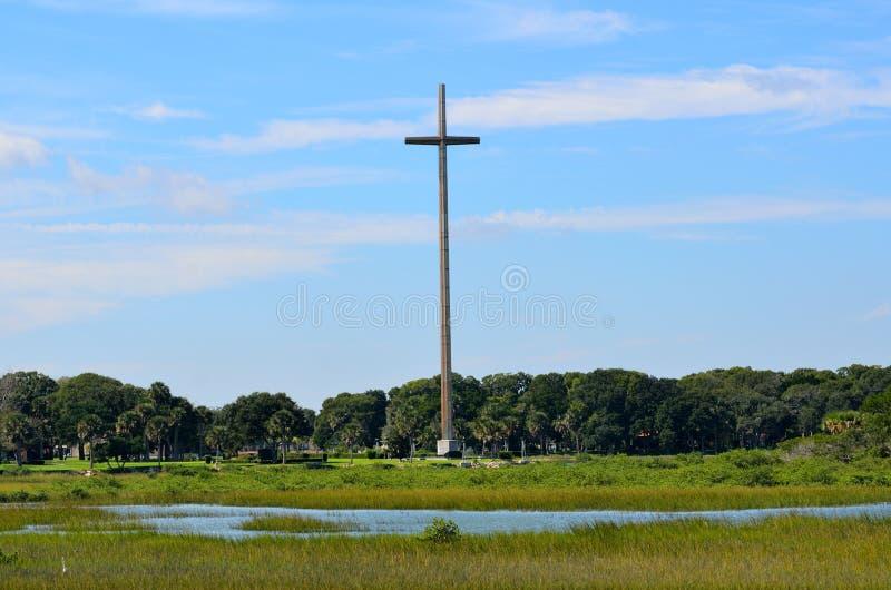 Grande croix de St Augustine photographie stock libre de droits