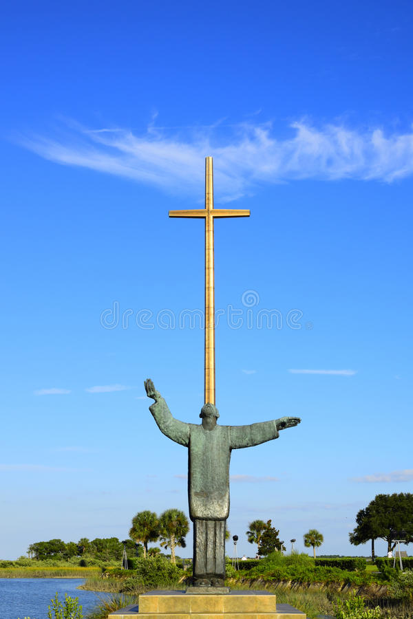 A grande cruz em St Augustine, Florida imagens de stock royalty free
