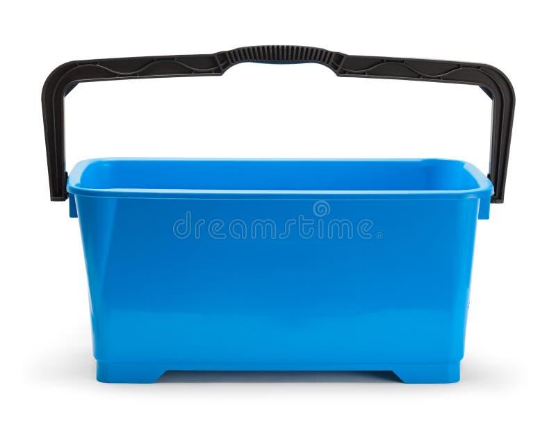 Grande cubeta azul do retângulo foto de stock
