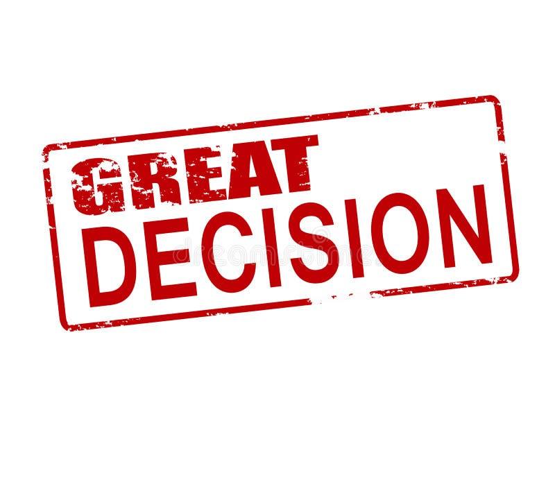 Grande décision illustration libre de droits
