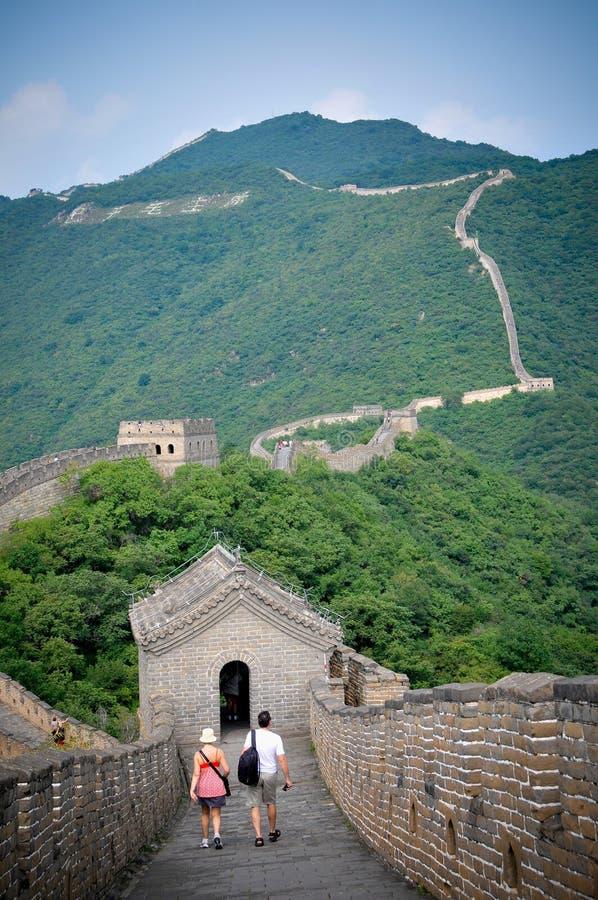 Grande de la pared de China fotografía de archivo