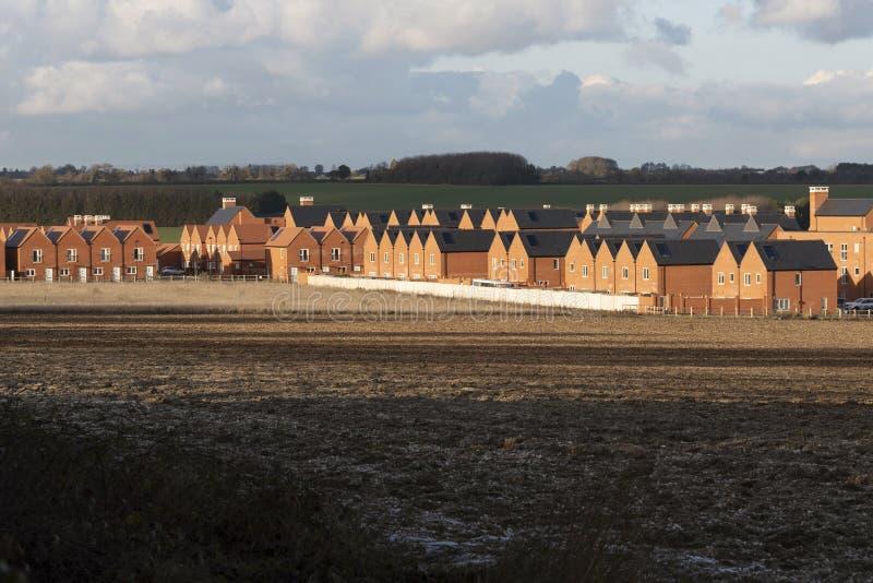 Grande desenvolvimento de casas novas perto de Winchester Reino Unido imagens de stock