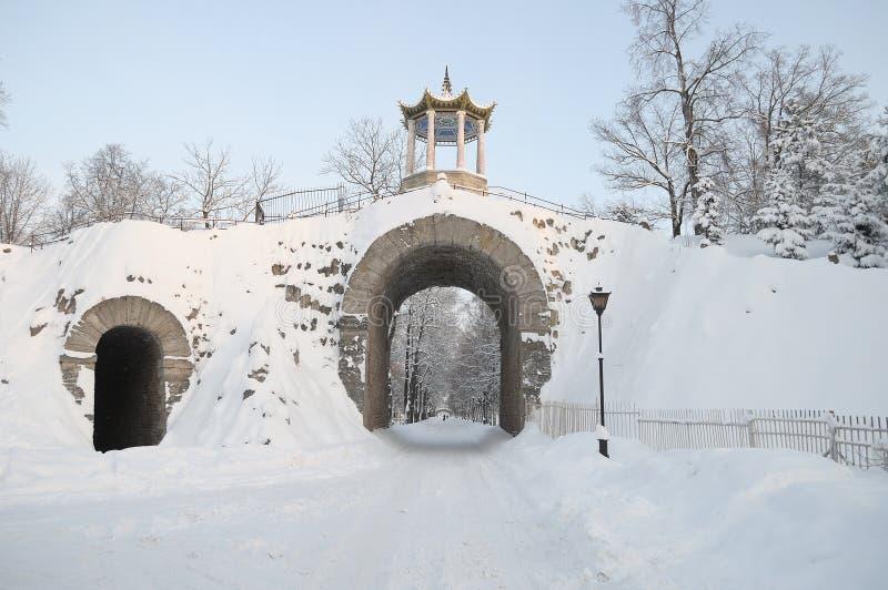 ` Grande do capricho do ` de Catherine II em Tsarskoye Selo fotos de stock royalty free