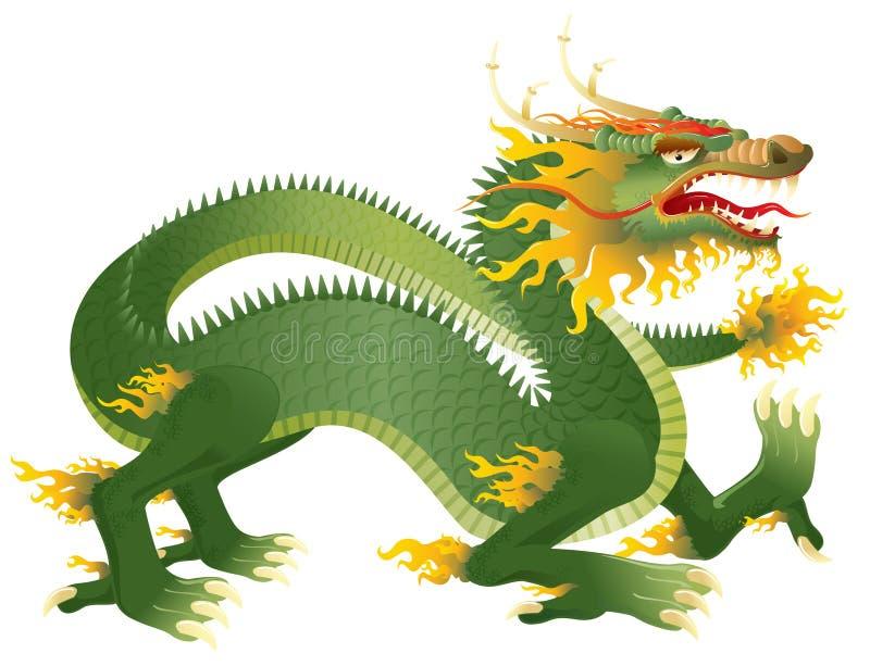 Grande dragão ilustração royalty free