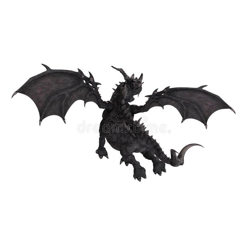 Grande dragão da fantasia ilustração royalty free