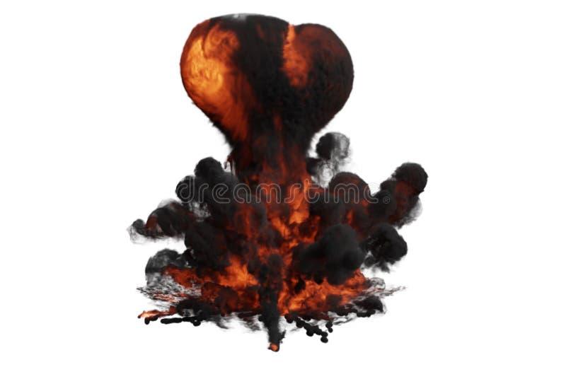 Grande ed esplosione rossa piena di bolle potente illustrazione di stock