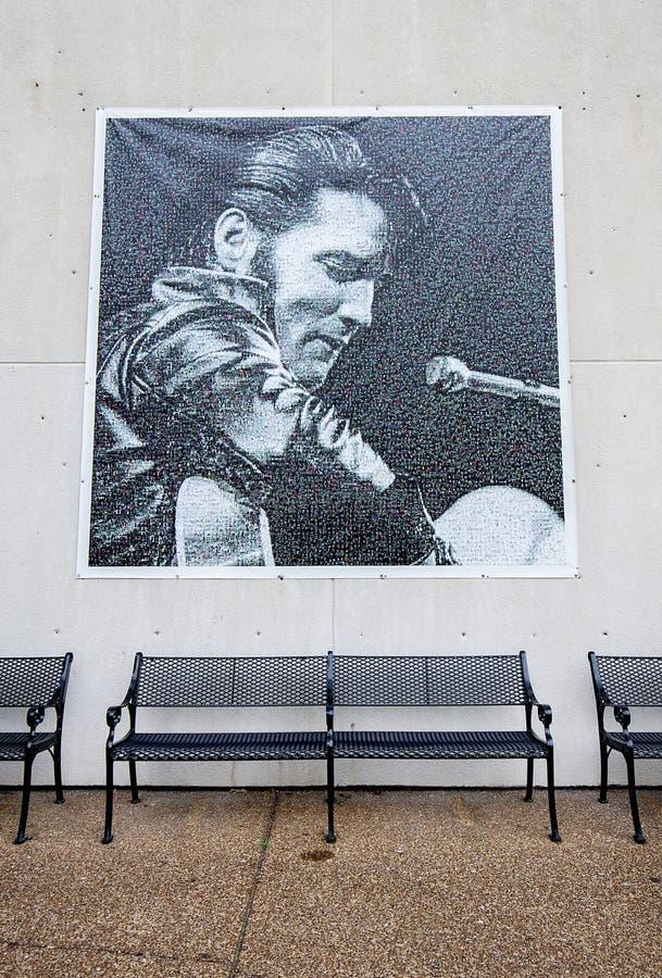 Grande Elvis Presley Mosaic em Graceland imagem de stock royalty free