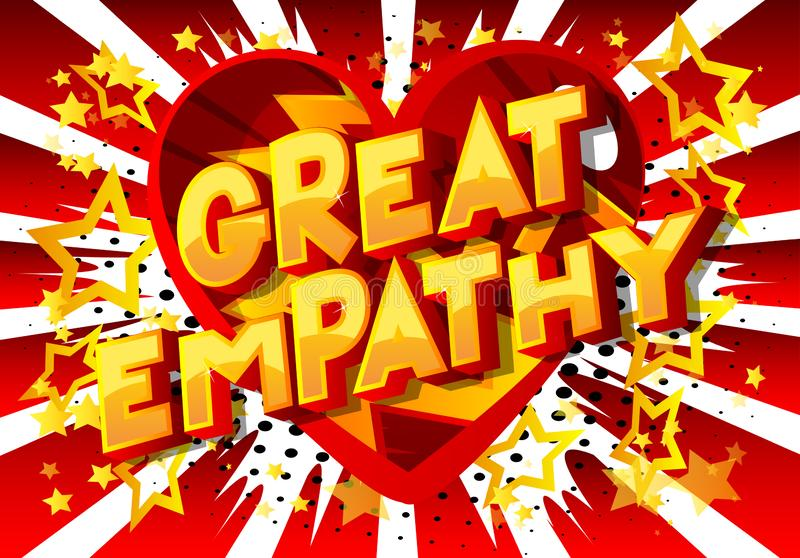 Grande empatia - parole di stile del libro di fumetti royalty illustrazione gratis