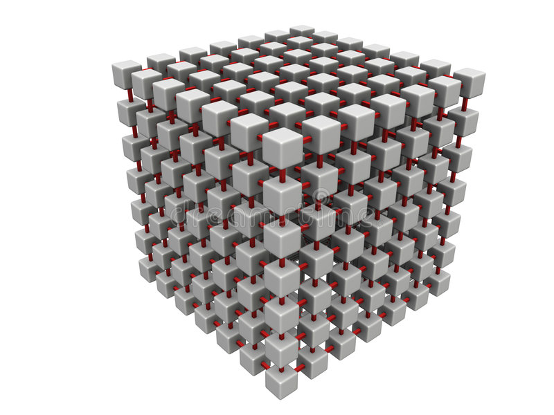 Grande engranzamento do cubo ilustração royalty free