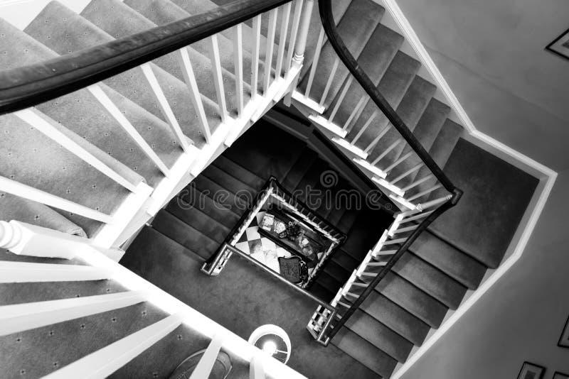 Grande escadaria em uma casa em Bristol o 14 de maio de 2019 imagem de stock