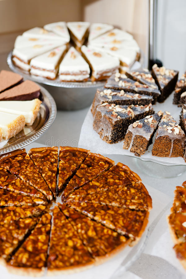 Grande escolha de partes de tortas diferentes foto de stock