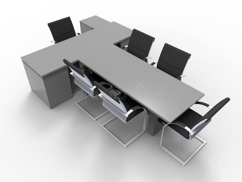 Grande escritório vazio isolado ilustração royalty free