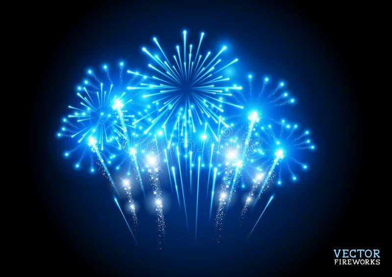 Grande esposizione dei fuochi d'artificio illustrazione di stock