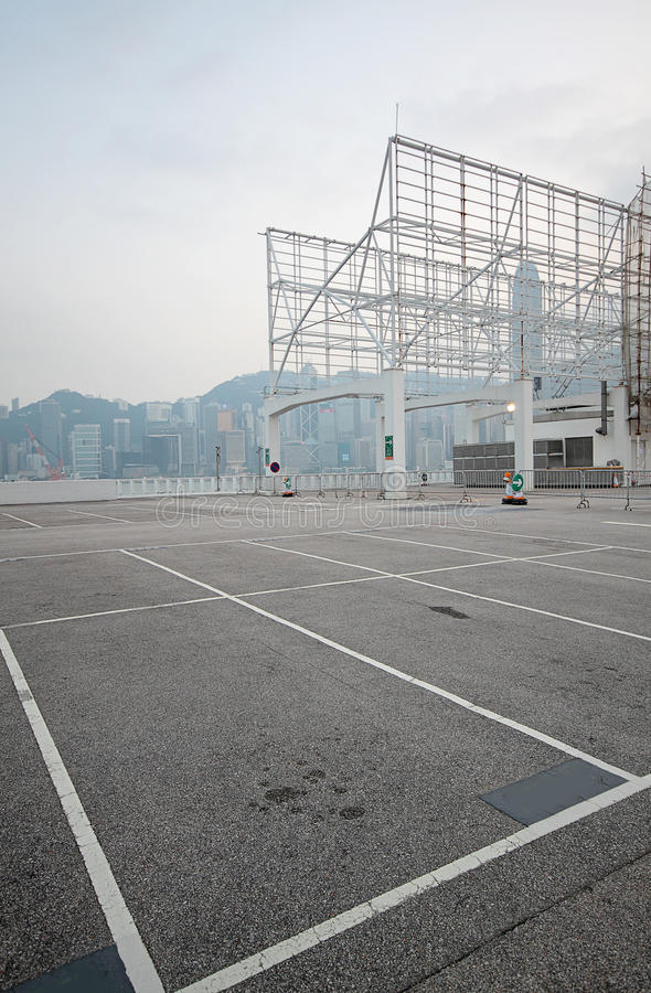 Grande estacionamento numerado do espaço fotos de stock royalty free