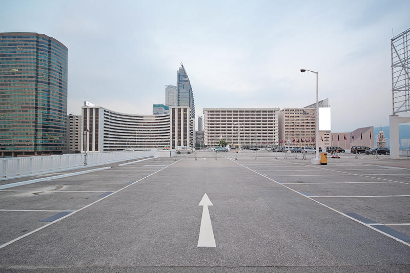 Grande estacionamento numerado do espaço fotografia de stock