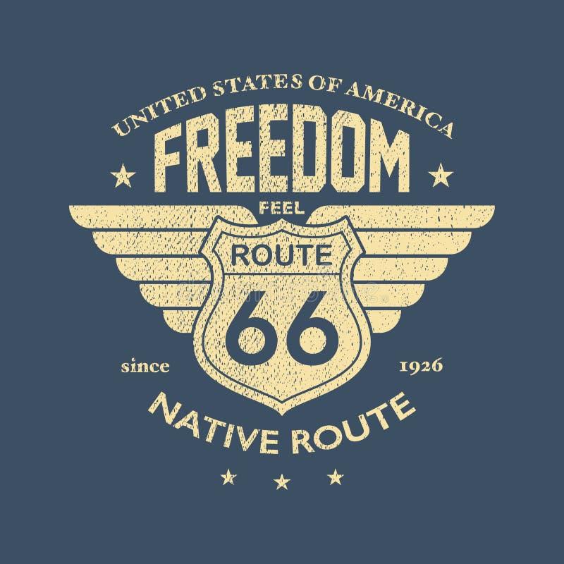 A grande estrada americana ilustração stock