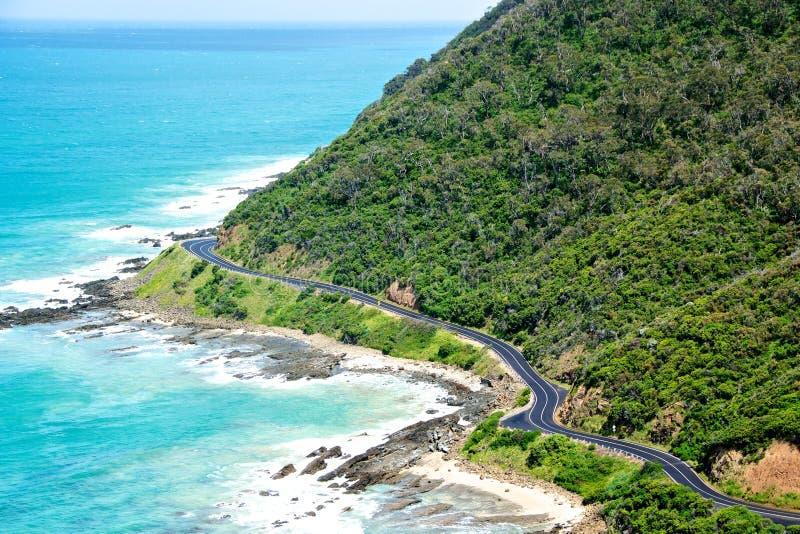 Grande estrada do oceano foto de stock